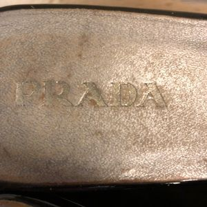 Prada Shoes - Prada Patent Leather Slingback Flatform Shoes 9